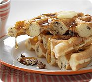 This website for Krusteaz Waffle Mix has some ideas for other recipes to use with the mix.
