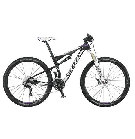 Scott Contessa Spark 700 är riktigt kompetent heldämpad cykel för tjejer som antingen vill börja cykla i utmanande terräng, eller som cyklat en del mountainbike men vill börja cykla heldämpat