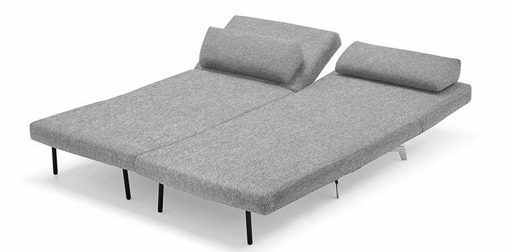 Canapé Convertible Design Loveseat Plus Gris - Mobilier Design - Lit