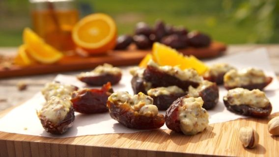 Dattes farcies aux pistaches - Recettes de cuisine, trucs et conseils - Canal Vie