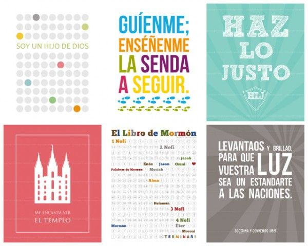 Perfect for use in a LDS Spanish ward or branch!