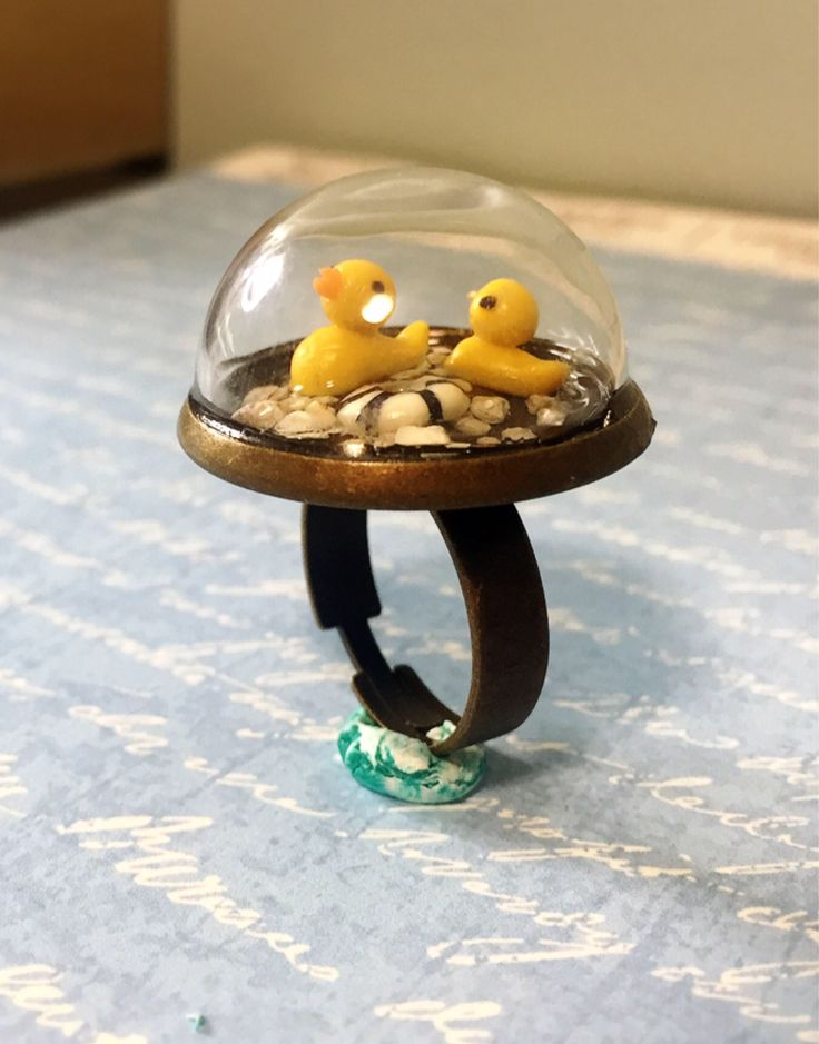 A personal favorite from my Etsy shop https://www.etsy.com/ca/listing/558360209/two-miniature-rubber-duck-in-the