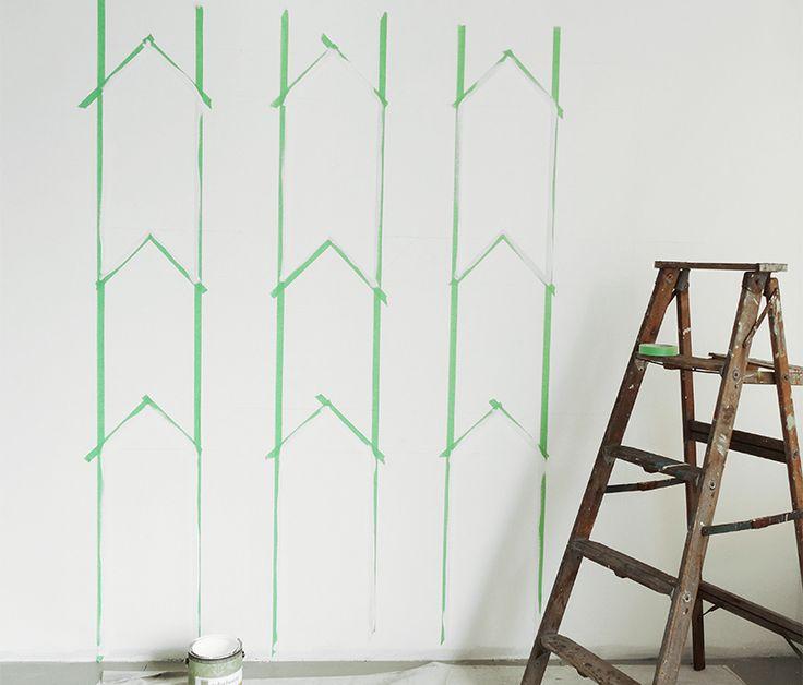 Die Besten 25+ Wand Streichen Muster Ideen Auf Pinterest