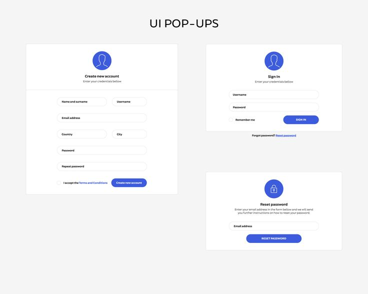 Web design UI set - login form by Marian Kadlec on @creativemarket