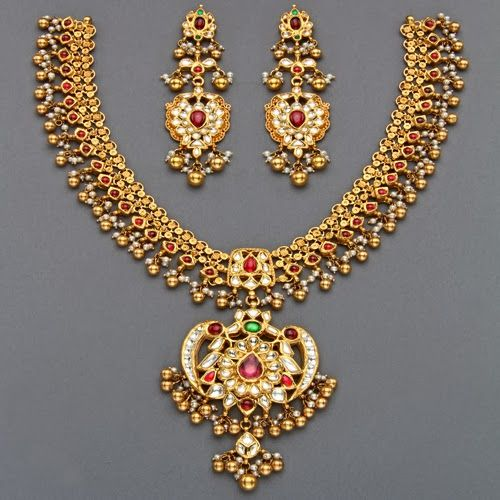 166 Best Bridal Jewellery Collections Images On Pinterest: Jewellery Designs: Mangatrai's Latest Tussi Necklaces