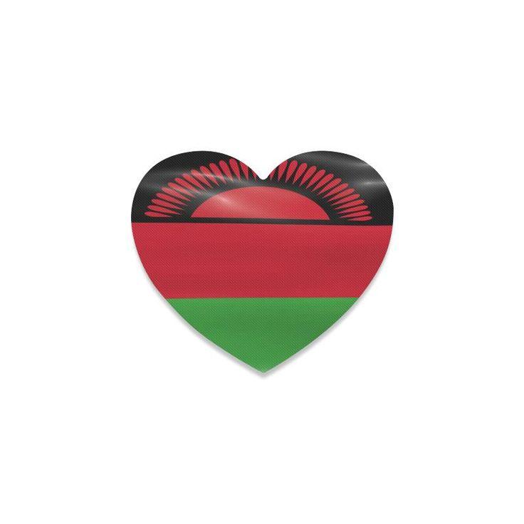 Malawi Flag Heart Coaster