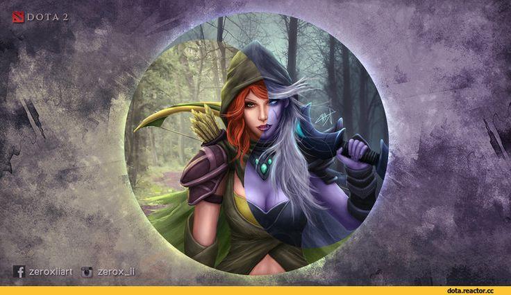 Dota,фэндомы,Lyralei the Windrunner,Traxex the Drow Ranger,Zerox-II,Dota Art