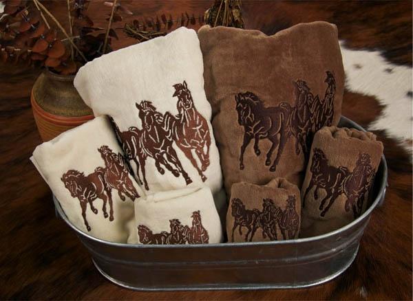 Running Horses Towel Set
