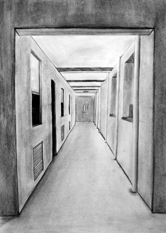 Also when you were very young you drew a scene of a roadway with perfect perspective.