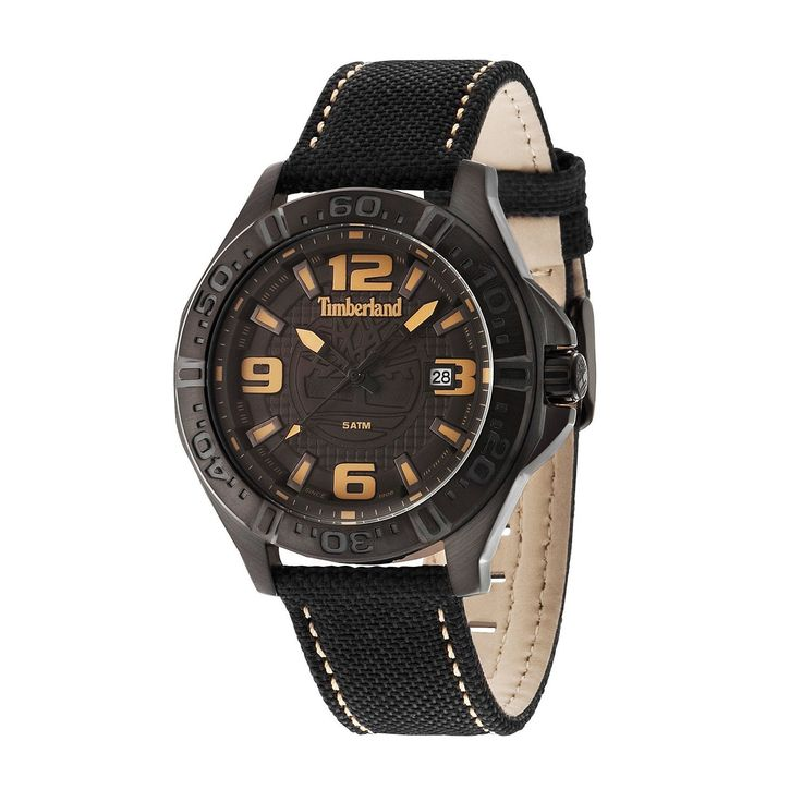 Run your Elegance 365 days a year! Elegance is a mindset WALLACE Black - Timberland watch Black dial and black nylon strap - Runit365 your Elegant Men Store  #menstyle #shoes #tie #mensfashion #menswear