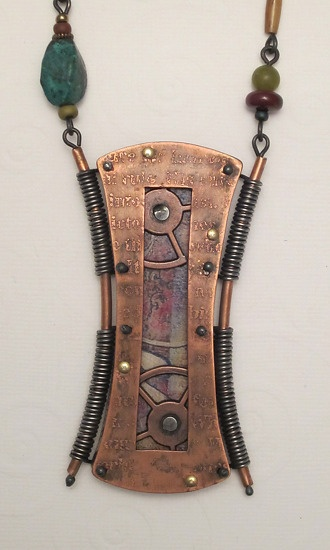 Upcycled Circuit Board Necklace With Awesome Resistors And Sterling