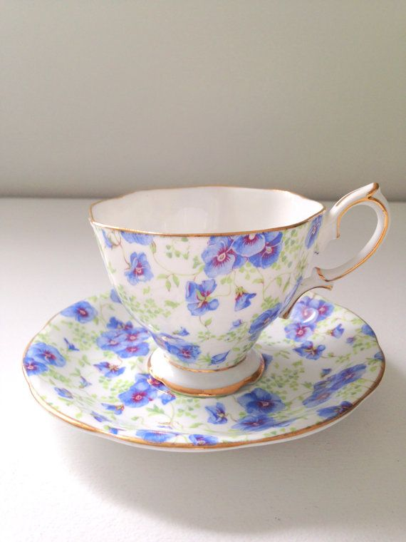 Vintage English Royal Albert Crown China Tea Cup and Saucer 1950s