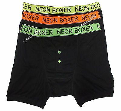 Mens classics black neon #boxers #boxer #shorts #trunks 6 pair pack sizes s to 2xl,  View more on the LINK: 	http://www.zeppy.io/product/gb/2/261346025510/