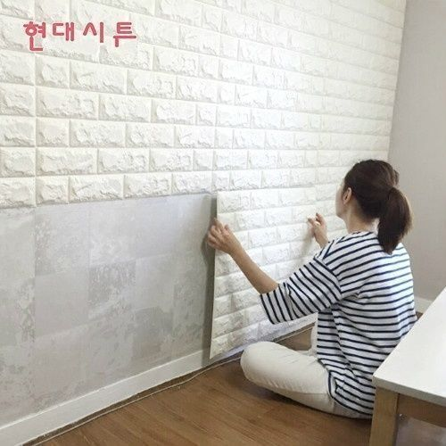 3d Brick Waterproof Wall Sticker Self Adhesive Panels Decal Wallpaper 60 30cm Uk White Brick Wallpaper Brick Design White Paneling