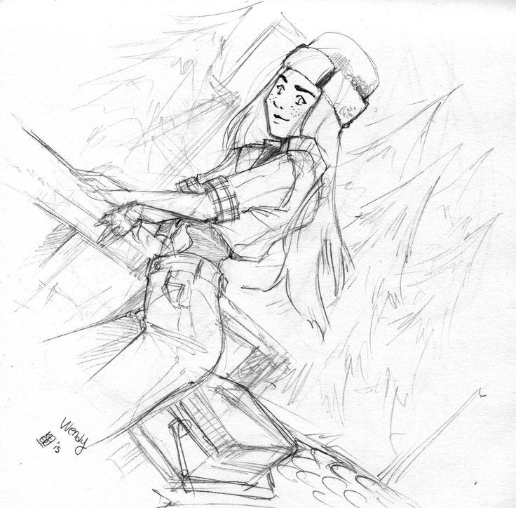 sketch of Wendy, #Gravity Falls