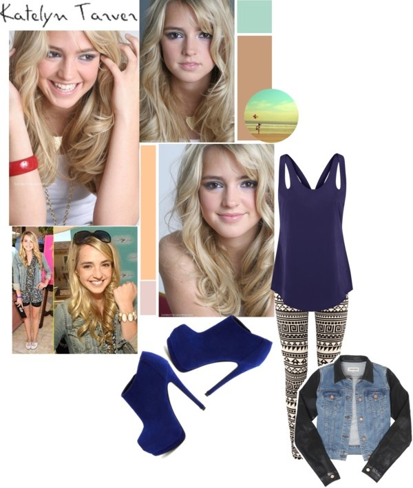 """""""katelyn tarver."""" by osnapitssalma ❤ liked on Polyvore"""