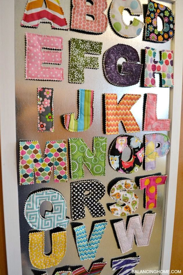 Alphabet magnet en tissu DIY Magnet Board