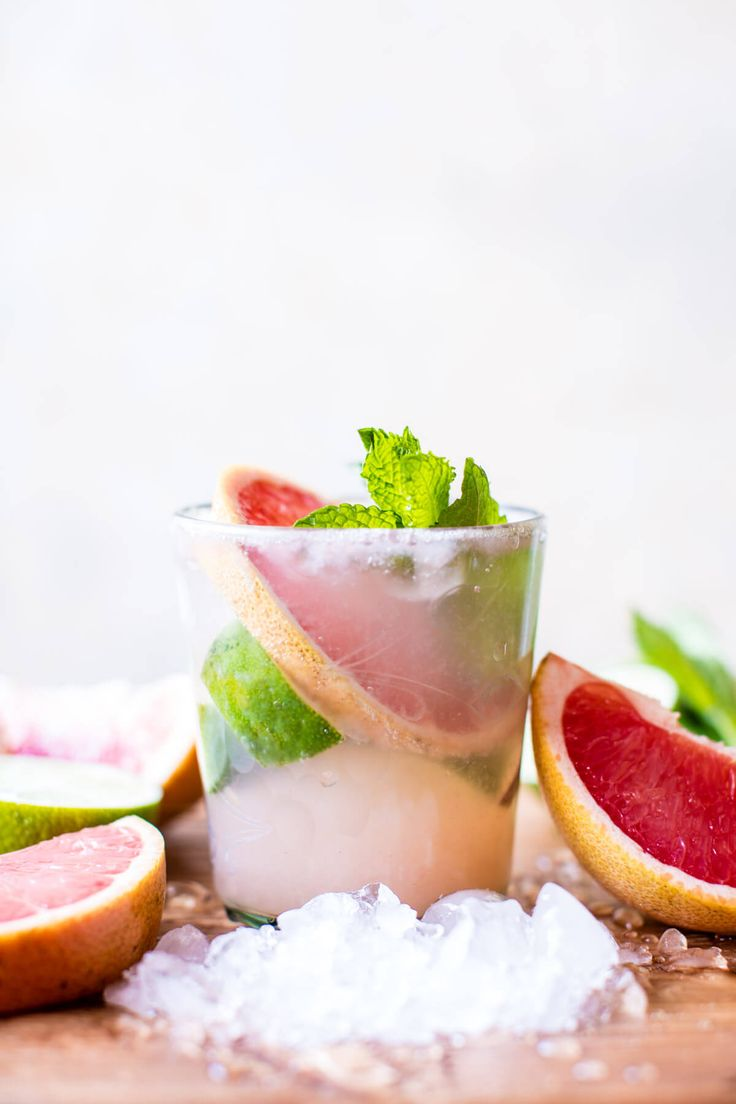 Minty Grapefruit Caipirinha - Refreshing, simple, and makes for the most perfect Saturday cocktail! From halfbakedharvest.com