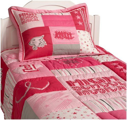 High School Musical Team Spirit Twin/Full Quilt by High School Musical. $66.57. Made of 55 percent polyester, 45 percent cotton; 100 percent polyester fiber fill. Warm, comfortable High School Musical quilt for Twin/Full beds. Melange of stripe, heart, and star patterns in multiple shades of pink. Also includes logos for the movie and East High as well as silhouette of entire cast. Machine wash and tumble dry for easy care. Join the High School Musical gang as ...
