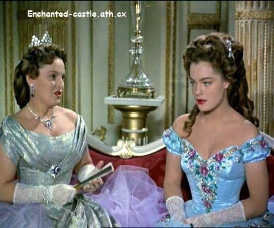 "Romy Schneider as Sissi (1, 1955) the ""engagement"" ball and her mother Magda Schneider urging her to have a bit of fun and to dance."