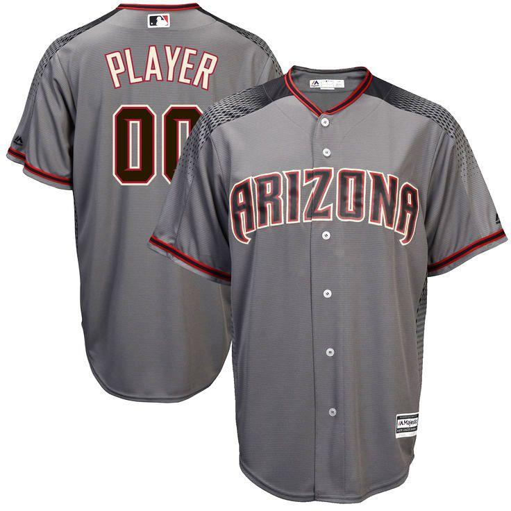Arizona Diamondbacks Majestic 2017 Cool Base Custom Baseball Jersey - Gray - $124.99