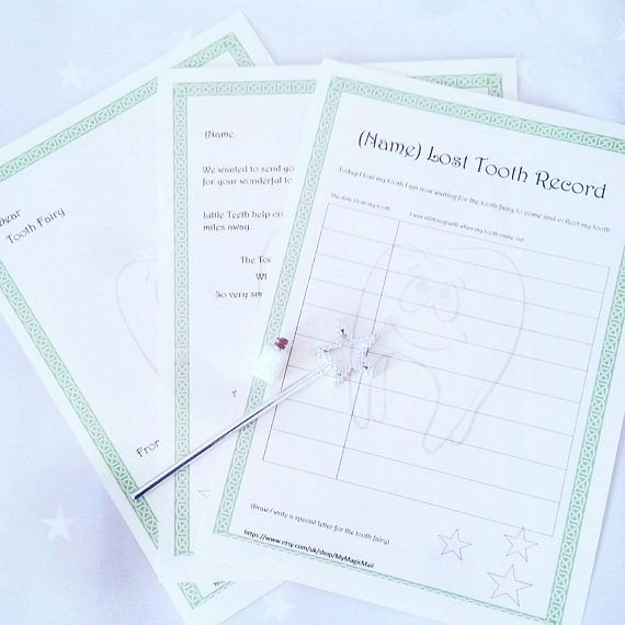 Tooth Fairy letter/ tooth fairy gift/ tooth fairy record/