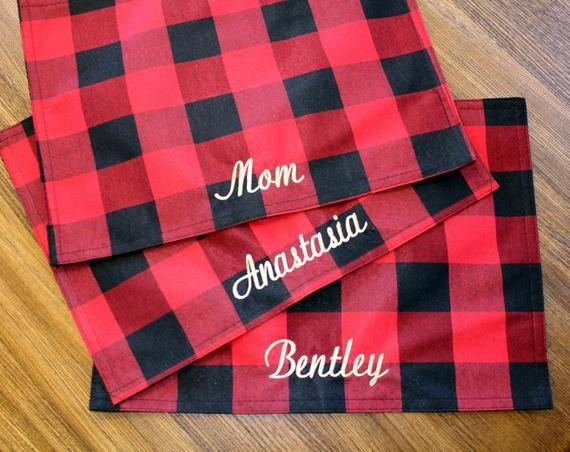 Embroidered Christmas Placemat Personalized Placemats Monogrammed Placemat Family Placemats Christmas Placemats Personalised Placemats Embroidered Gifts