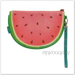 Pinkbagoly: Dinnyeszelet alakú kistáska, pénztárca - Santoro K...