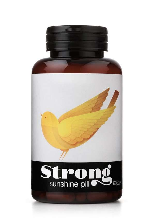 Supplement Branding - In a supplement branding effort to differentiate 'Strong' supplements, designers at Pearlfisher created a series of symbolic avians to ...