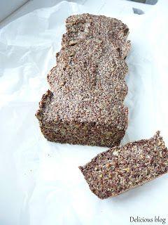 Delicious blog: Pečení bez mouky...lněný chléb