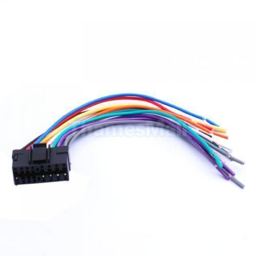 3 16 pin jvc car stereo radio wire wiring harness plug diy ebay rh pinterest com