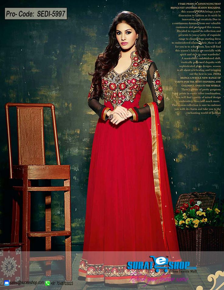 Women Splendor Is Magnified Tenfold In This Type Of A Alluring Black & Red Faux Georgette Salwar Kameez. The Charming Butta Work, Lace, Patch Work, Resham, Stones Work A Substantial Characteristic Of This Attire. Paired With A Matching Bottom Comes With A Matching Dupatta  Visit: http://surateshop.com/product-details.php?cid=2_27_43&pid=8306&mid=0