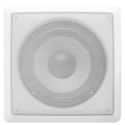 Acoustic Audio CS-iw10sub 10-Inch Square In Wall Subwoofer (White)