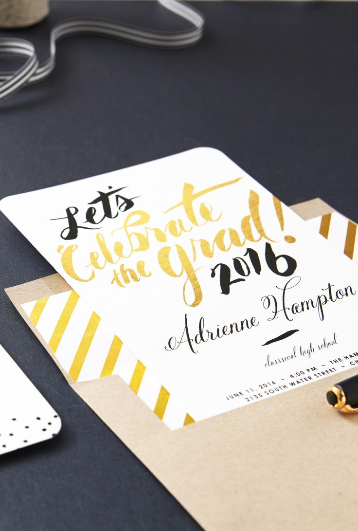 Celebrate the grads of 2016 with foil