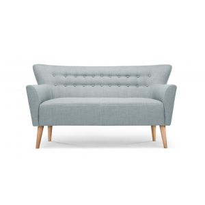 Quentin, un canapé 2 places, bleu polaire | made.com