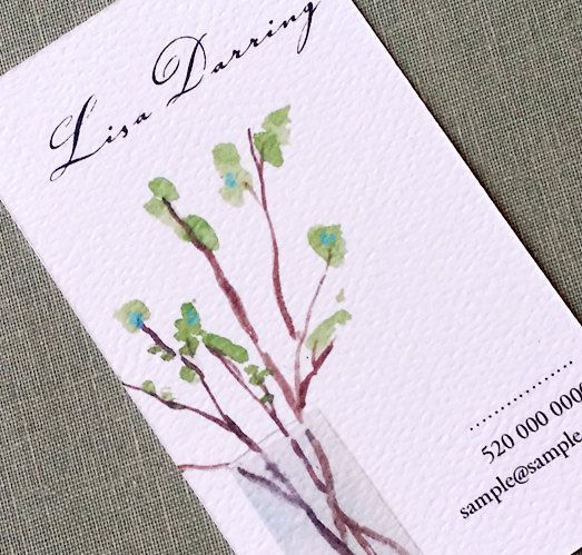 Business card for Florist, Writer, therapist, and more Floral Twigs, Set of 50 on Etsy, $27.00