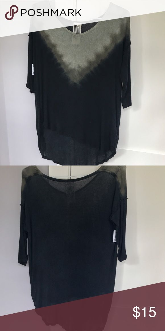 Free People Dip Dye Top NWT This is a free People dip dyed Top in green and black. It is an XS. Free People Tops Blouses