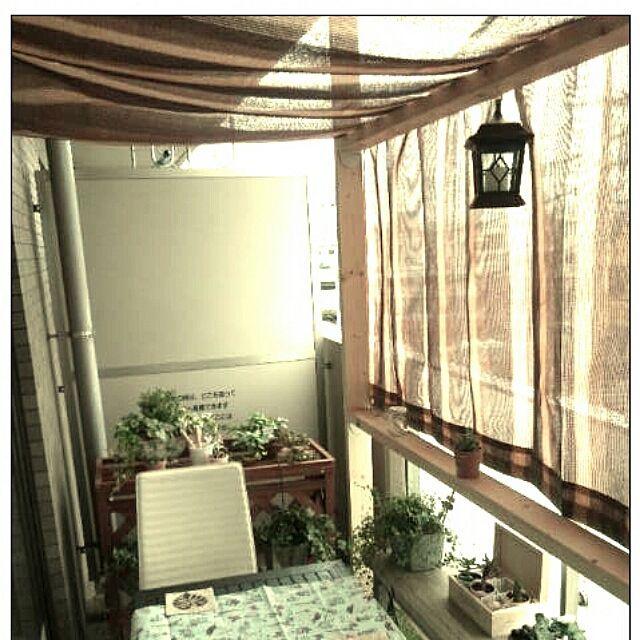 ベランダガーデン/フェイクグリーン/ディアウォールのインテリア実例 - 2015-07-04 05:33:25 | RoomClip(ルームクリップ)