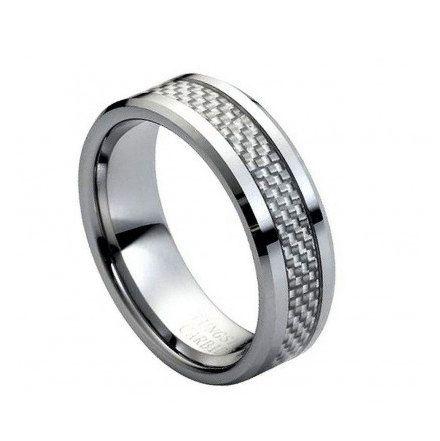 Tungsten Wedding Band Tungsten Engagement ring for Men by RoseOwl, $39.99