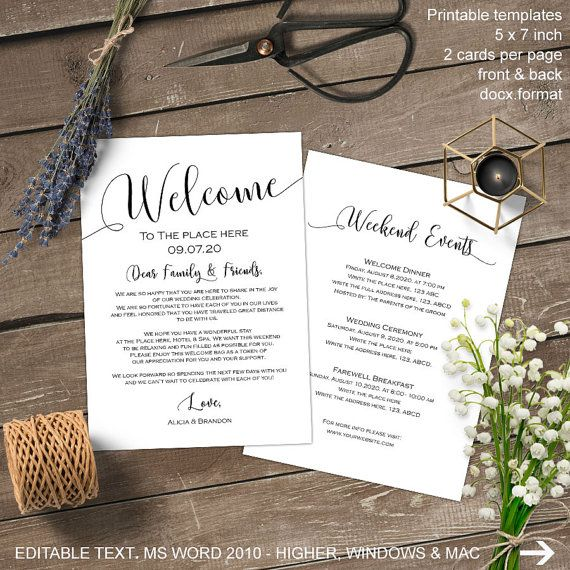 25 best ideas about Wedding Itinerary Template – Wedding Weekend Itinerary Template