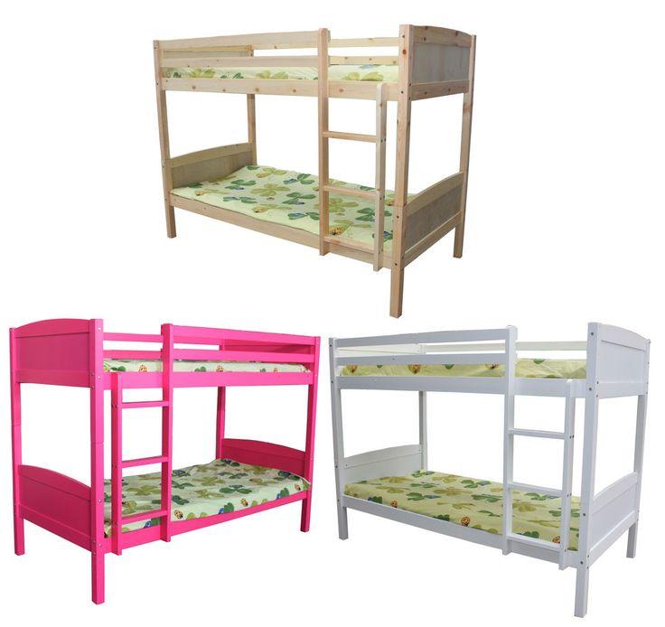 ... letto a castello singolo in legno per bambini,91cm,senza materasso