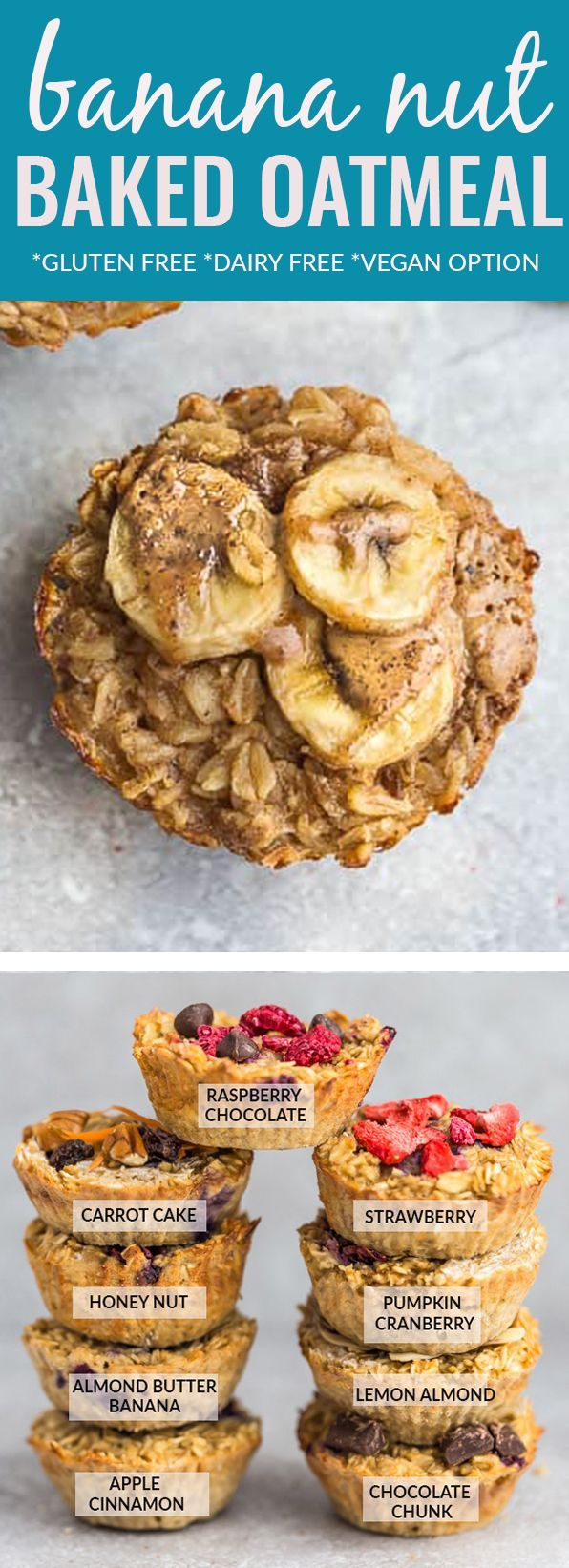 Banana Baked Oatmeal Cups – the perfect easy mak…