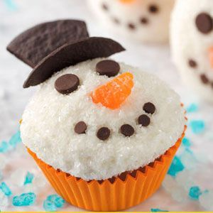 Winter Fantasy Cupcakes Recipe: Blue Food, Kids Christmas Crafts, Decor Ideas, For Kids, Snowman Cupcakes, Cupcakes Recipes, Fantasy Cupcakes, Christmas Cupcakes, Cupcakes Rosa-Choqu