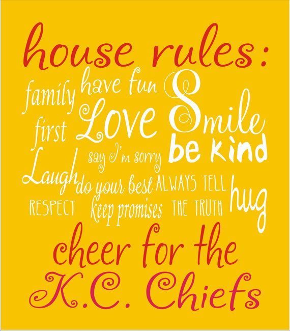 HOUSE RULES with your Home Team STENCIL 4 por SuperiorStencils