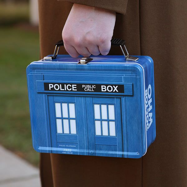 Doctor Who TARDIS Lunch Box! Because a Doctor has to eat too!