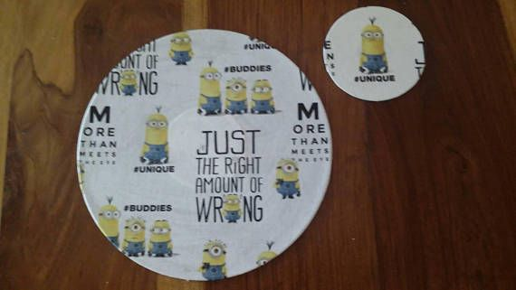 Hey, I found this really awesome Etsy listing at https://www.etsy.com/au/listing/535391508/upcycled-record-and-cd-minions-placemat