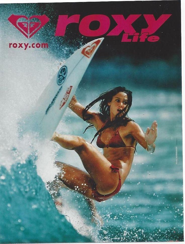 Original vintage poster ROXY QUICKSILVER BEACH SURF GIRL