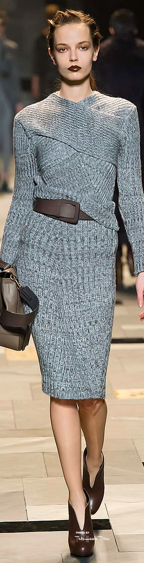 Trussardi ~ Fall Knit Dress, Grey, 2015