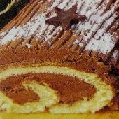 Photo of Greek Yule Log Cake - Chocolate Kormos