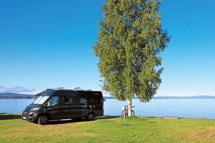 Leser-Lieblingsplatz auf dem Siljansbadets Campingplatz Schweden - PROMOBIL